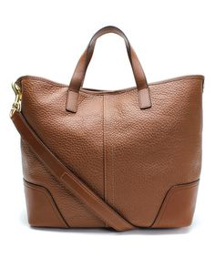 Look what I found on #zulily! Saddle Brown Hadley Leather Duffel by Coach #zulilyfinds
