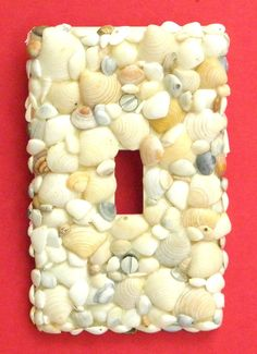 Seashell light switch plate for beach themed bathroom