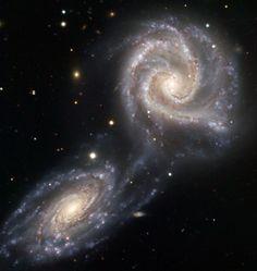 Arp 271 — Galaxies Drawn Together* | ESO United Kingdom. Image credit: ESO https://www.eso.org