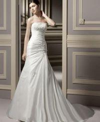 199,99 € Un vestido de línea princesa Strapless Capilla tafetán http://www.gmomento.es/vestidos-de-novia/