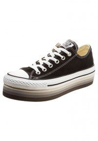 Converse - CHUCK TAYLOR ALL STAR OX PLATFORM EVA CANVAS - Joggesko - black