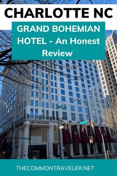 Grand Bohemian Hotel Charlotte - An Autograph Collection Marriott Property: The Common Traveler shares an honest review of the best hotel in Charlotte - what to expect, and whether it is worth the expense. The bottom line: absolutely great property! #charlottenc #charlotte #grandbohemianhotel Best Resorts, Hotels And Resorts, Best Hotels, Luxury Travel, Us Travel, Travel Tips, Hotels In Charlotte Nc, Grand Bohemian Hotel, Outside Seating Area