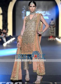 Burly Wood Jamawar Special Occasion Dress by Sana Safinaz PFDC