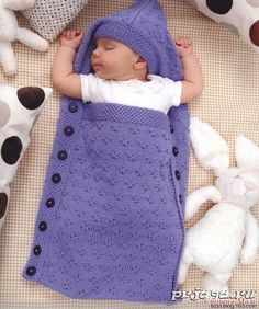 Envelope hooded sleeping bag - woven happiness - happiness knitting blog