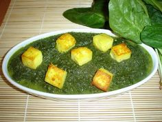 """Here is the one of the best food of Indian veg manu """"palak panner"""""""