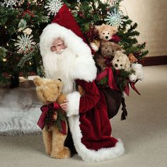 Stone Soup Limited Edt Handmade Never Enough Bears Santa