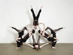4 Or 6 Person Acro Pose