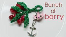 Macrame keychain tutorial - Cute bunch of berry - hướng dẫn thắt móc khó... Macrame Tutorial, Berry, Lanyards, Knots, Pendants, Chinese, Blueberry