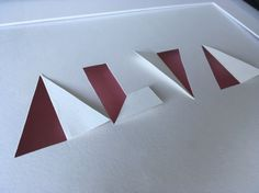 NAME SIGN paper cut and fold A4 nursery von PapirKlippKompaniet