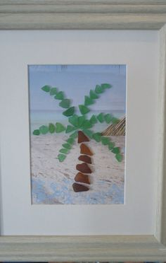 Beach Glass Palm Tree by beachbumglasscottage on Etsy, $38.00