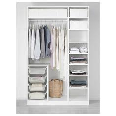 Ideas For Wardrobe Storage Solutions Organizers Ikea Pax Pax Closet, Ikea Pax Wardrobe, Closet Bedroom, Open Wardrobe, Ikea Closet, Bathroom Closet, Ikea Wardrobe Storage, Storage Room, Ikea White Wardrobe
