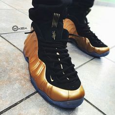 """Will you get your royalty swag up and cop the """"Metallic Gold"""" Foams tomorrow? It'll match perfectly with our upcoming KoF shirt . Via @waseem45s"""