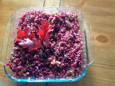 Healthy Glowing Life: Bulgur with Red Beets and Walnuts Salad