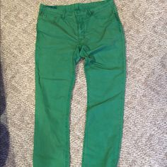 Polo Ralph Lauren Men's fashion jean style pants Gorgeous Polo green men's jeans, perfect for a woman.  Bought these for myself for length and style.  Hard to find this length in women's and the style is flattering for hips.  Never worn, but not because they aren't great.  Just never got to them, now have to downsize Polo by Ralph Lauren Pants Straight Leg
