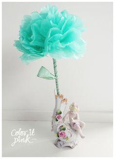Silk paper flowers
