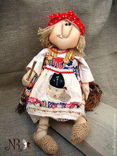 Сказочные персонажи ручной работы. Ярмарка Мастеров - ручная работа. Купить Бабка Ёжка и Ёжкин кот. Handmade. Кукла