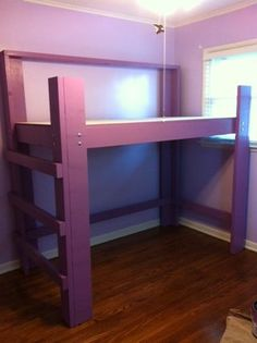 how to make a simple loft bed. I think maybe my boy needs one of these. In a better color of course!