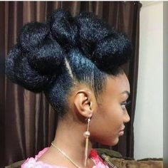 35 Natural Braided Hairstyles Without Weave - Part 41 : Cinnabun hawk natural hair Natural Hair Bun Styles, Natural Braided Hairstyles, Pelo Natural, Natural Hair Updo, African Hairstyles, Protective Hairstyles, Afro Hairstyles, Curly Hair Styles, Wedding Hairstyles