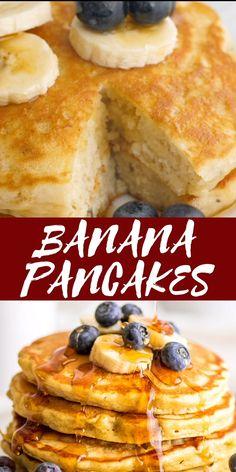 Fun Baking Recipes, Baby Food Recipes, Mexican Food Recipes, Cooking Recipes, Pancakes For Two, Fluffy Pancakes, Buzzfeed Tasty, Banana Pancake Recipes, Healthy Banana Pancakes