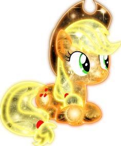 Applejack is a crystal pony