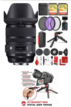 The Sigma 24-70mm f/2.8 DG OS HSM Art Lens comes with all the manufacturer accessories and a 4-year USA warranty along with a 19-piece bundle which includes 2x SanDisk Extreme 64GB SDXC Class 10 Memory Cards, 3 PC Filter Kit, Wrist Strap, Memory Card Reader, #lens #highqualitylens #photography #photographer #Photos #NewYorkCity #Amazon #amazonbestseller #cameralens #camera #cameras #PhotoOfTheDay #PhotoMode #bestlens #amazonproducts #amazonelectronics #electronics #photolover #photograpylover Art Lens, Amazon Electronics, Canon Ef, Card Reader, Camera Lens, Memories, Photography, Memoirs, Souvenirs