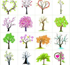 Cartoon tree picture Cartoon tree, love, pattern, tree, trees, green, love trees, pink - Images, video, photography, design, Vector, PSD, AI, in CDR, EPS, download images, gallery Share