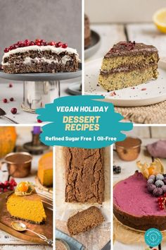 Healthy vegan holiday dessert recipes that are oil-free, gluten-free and refined sugar free. All those recipes are either Plantricious or Plantricious Friendly! #holidaydessertrecipes #holidaydesserts #veganholidaydesserts #healthyholidaytreats #healthyholidaydesserts #glutenfreeholidaydesserts #glutenfreeholidaytreats #plantricious