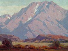"A California great, Sam Hyde Harris ""Mt. San Jacinto"" 12x16 Oil on Canvas Board"