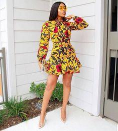 African Clothing for Women African Dress for women Ankara African Fashion Ankara, Latest African Fashion Dresses, African Print Fashion, Africa Fashion, Street Style 2017, Afrika Festival, Ankara Mode, Ankara Stil, Short African Dresses