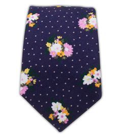 Outland Floral - Eggplant (Cotton Skinny)   Ties, Bow Ties, and Pocket Squares   The Tie Bar