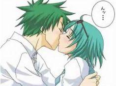Ueki and mori kiss