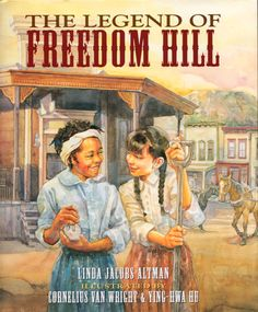 In the 1850s, during the time of the California Gold Rush, Rosabel and Sophie become best friends because they are both outsiders. Rosabel is African American and Sophie is Jewish. Rosabel has freedom papers, but her mother, Miz Violet, is a runaway slave. #CCSS #readaloud #Californiabooks #CommonCore #ELA #literacy #California #diverselit