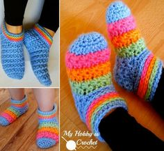 """<input class=""""jpibfi"""" type=""""hidden"""" >Here are 2 free patterns for crochet woman and toddler's slippers, that means you and your toddler can wear matching slippers. You know it's very hard to buy matching stuff for adult and kids, I have ever bought matching dress in kids store for my daughter and me , but no shoes .Anyway, you can…"""
