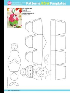 paper chain template- bunny, bird | Crafts and more | Pinterest ...