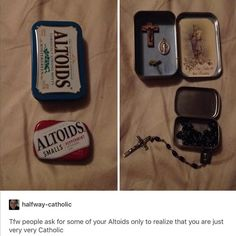 What Catholics do with mint tins...