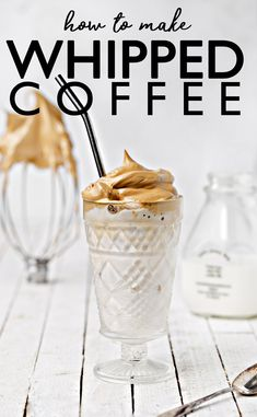 A great alternative to your typical iced coffee Whipped Coffee Iced Lattes are easy and fun to make anywhere and with only 3 ingredients! Iced Latte, Iced Coffee, Coffee Art, Coffee Break, Coffee Drinks, Morning Coffee, Coffee Shop, Delicious Desserts, Yummy Food