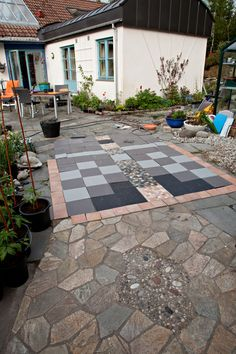 planning a new tiled floor for my greenhouse. Elly Prestegard