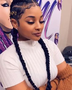 hairstyles in kenya hairstyles black girl hairstyles model hairstyles with clip in extensions hairstyles 2 braids hairstyles curly hairstyles viking hair videos Feed In Braids Hairstyles, Braided Hairstyles For Black Women, Baddie Hairstyles, Braids For Black Hair, Trendy Hairstyles, Girl Hairstyles, Hairstyles Videos, Protective Hairstyles, Evening Hairstyles
