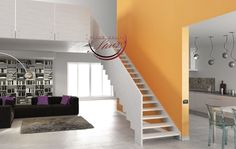 Open Stairs and Flight Staircases by Grand Design Stairs Luxury Staircase, Timber Staircase, Wood Railing, Treads And Risers, Open Stairs, Grand Designs, Types Of Wood, Stairways, Modern Design