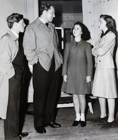 Mickey Rooney, Spencer Tracy, Shirley Temple and Judy Garland at MGM studios, 1941.