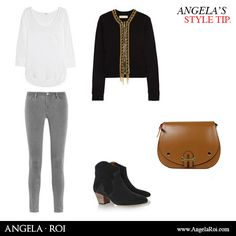 Styled outfit with A & R Classic Caramel cross-body!