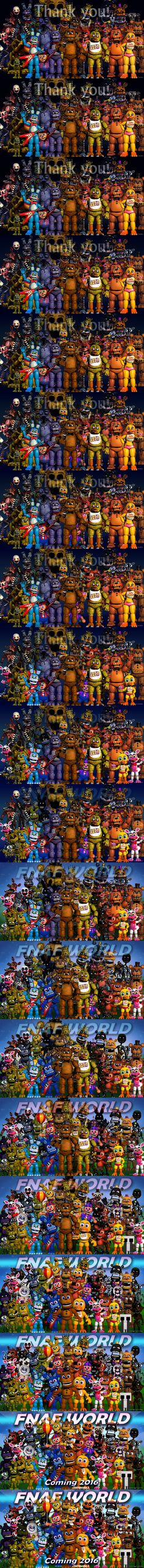 From 'Thank You' to 'FNAF World' - all 20 teasers by Solace-Stills on DeviantArt