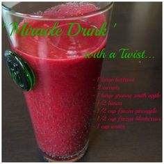 'Miracle Drink' with a Twist