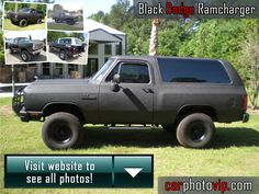 Black Dodge Ramcharger