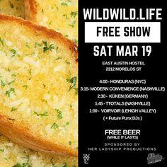 Just added 3/19 WildWild Life day party with @hondurasband #modernconvenience #TTotals #Kuken  #sxsw #sxsw2016 #allthebeer
