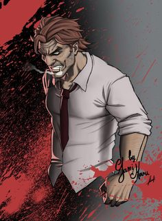 """BigBy, the big bad wolf, from """"The wolf among us"""". Hope you like it BigBy Video Game Characters, Cartoon Characters, Fables Comic, Teen Wolf, The Wolf Among Us, Vertigo Comics, Fanart, Big Bad Wolf, Favorite Cartoon Character"""