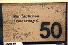 Zur täglichen Erinnerung! Ein Geldgeschenk zum 50. Geburtstag