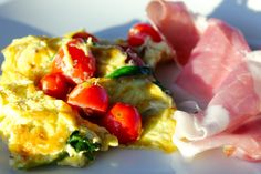 Spinach Omelet with Tuscan Prosciutto