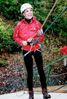 Catherine, Duchess of Cambridge abseiling in Wales.    20.11.2015