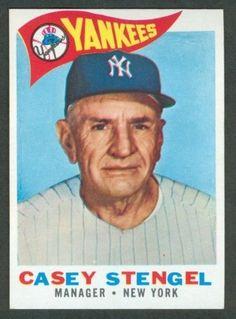 1960 Topps Casey Stengel Baseball Card for sale online Yankees Fan, New York Yankees, Giants Dodgers, Baseball Pictures, Baseball Stuff, Casey Stengel, Baseball Cards For Sale, Cartoon, Kids
